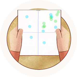 Image of two hands holding a chart